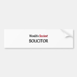 World's Sexiest Solicitor Bumper Sticker
