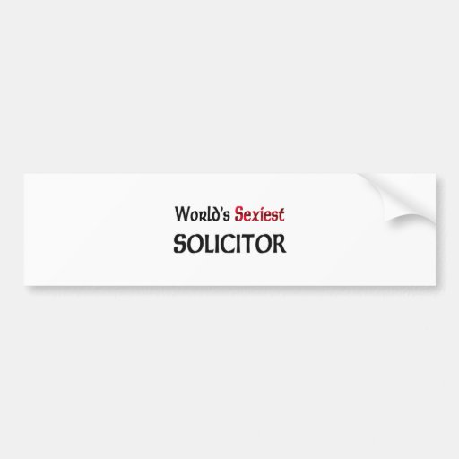 World's Sexiest Solicitor Bumper Sticker