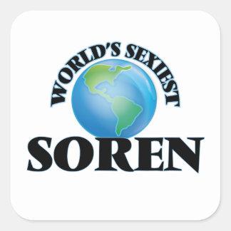 World's Sexiest Soren Square Stickers