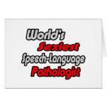 World's Sexiest Speech-Language Pathologist Cards