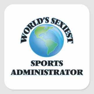 World's Sexiest Sports Administrator Square Sticker