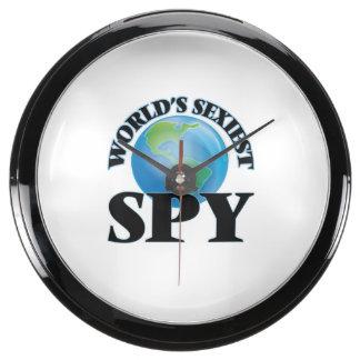 World's Sexiest Spy Aqua Clocks