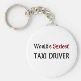 World's Sexiest Taxi Driver Basic Round Button Key Ring