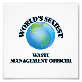 World's Sexiest Waste Management Officer Photo Print
