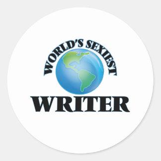 World's Sexiest Writer Round Stickers