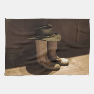 World's Shortest Cowboy Tea Towel