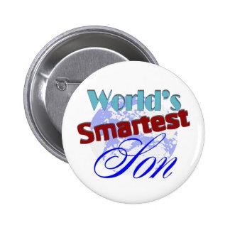Worlds Smartest Son 6 Cm Round Badge