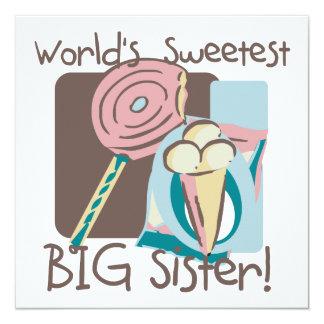 World's Sweetest Big Sister Custom Announcement