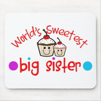 World's Sweetest Big Sister Mouse Pad