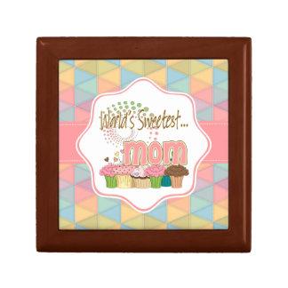World's Sweetest Mom Cupcake Edition Pattern Gift Box