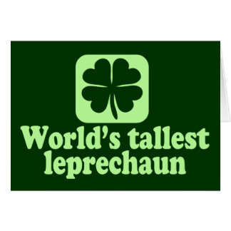 World's Tallest Leprechaun Card