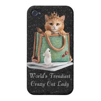 World's Trendiest Crazy Cat Lady Princess Kitten iPhone 4/4S Cover