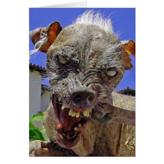 World's Ugliest Dog Card