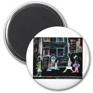 World's Unfunniest Cartoon On Funny Gifts & Tees Magnets