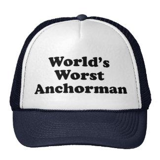 World's Worst Anchorman Trucker Hat
