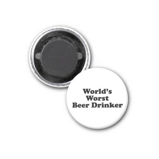 World's Worst Beer Drinker Fridge Magnets