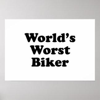 World's Worst Biker Poster