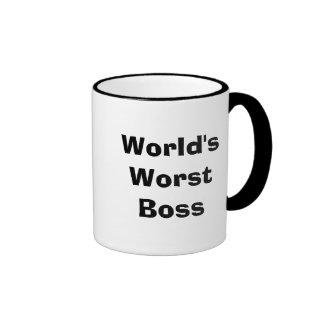 World's Worst Boss Ringer Mug