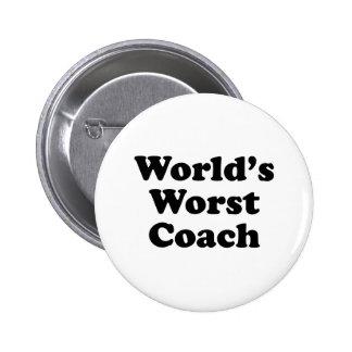 World's Worst Coach 6 Cm Round Badge