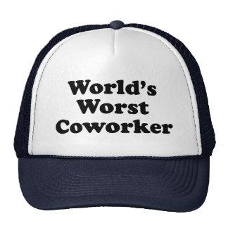 World's Worst Coworker Cap