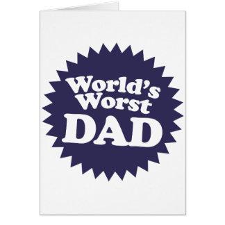 World's Worst Dad Card