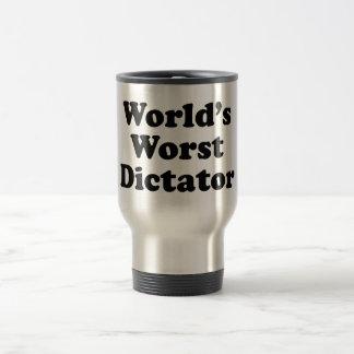 World's worst dictator stainless steel travel mug