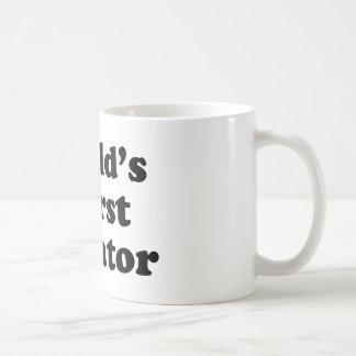 World's worst dictator basic white mug