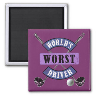World's Worst Driver WWDc Square Magnet