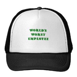 Worlds Worst Employee Hats