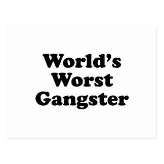 World's Worst Gangster Postcard