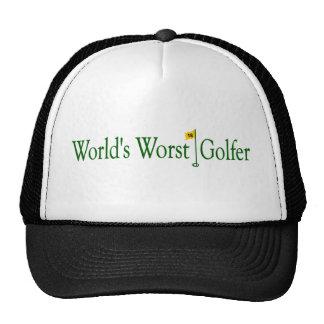 World'S Worst Golfer Cap