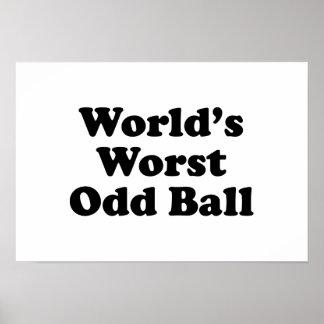 World's Worst Odd Ball Print