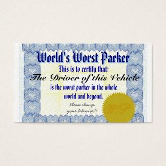 World's Worst Parker Business Card