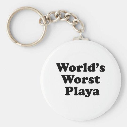 World's Worst Playa Basic Round Button Key Ring