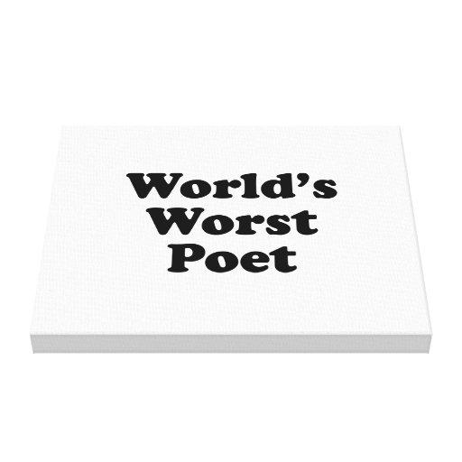 World's Worst Poet Canvas Prints