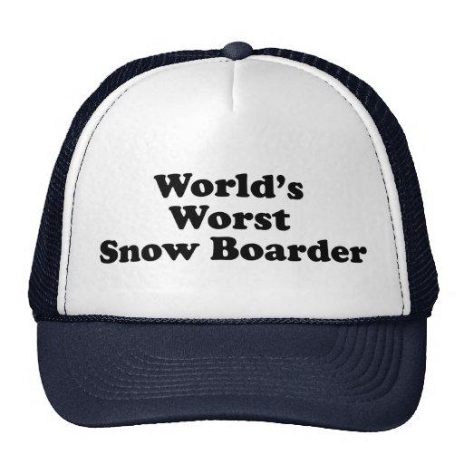 World's Worst Snow Boarder Trucker Hats