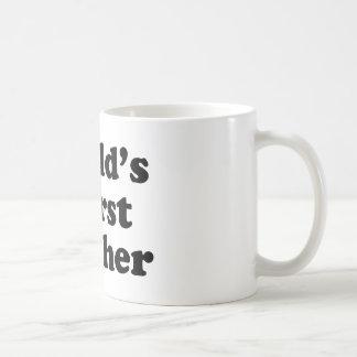 world's worst teacher basic white mug