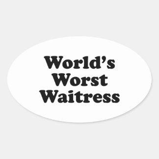 World's Worst Waitress Stickers