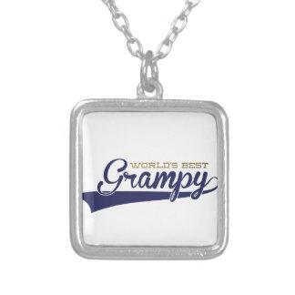 WorldsBestGrampyTee-01 Silver Plated Necklace