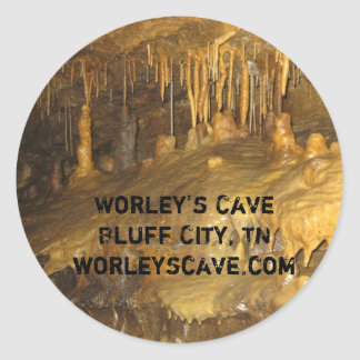 Worley's Cave Formations Classic Round Sticker
