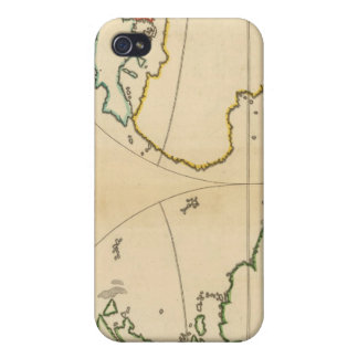 Worlp Map with 5 Zones iPhone 4 Cases