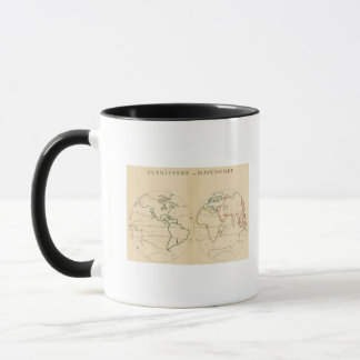 Worlp Map with 5 Zones Mug