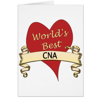 Worls's Best CNA Greeting Card