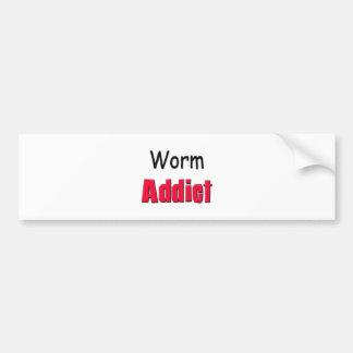 Worm Addict Bumper Sticker