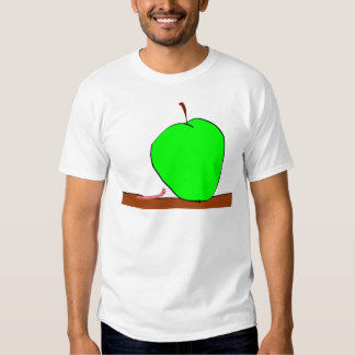worm and big apple t-shirt