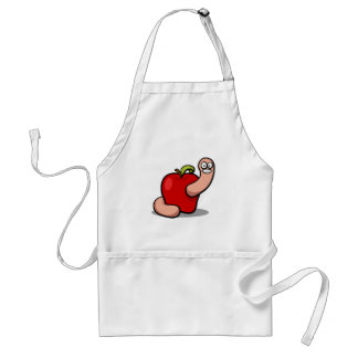 Worm and Red Apple Aprons