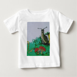 worm and snail art baby T-Shirt