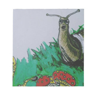 worm and snail art notepad