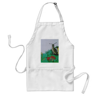 worm and snail art standard apron