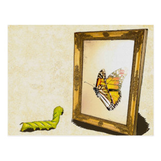 Worm and the Mirror! Postcard